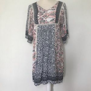 SUNDANCE Mixed Paisley print BOHO Dress